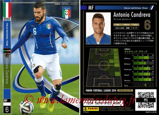 Panini Football League 2014 - PFL08 - N° 136 - Antonio CANDREVA (Italie) (Star)