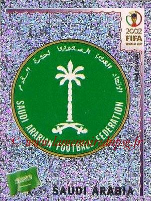2002 - Panini FIFA World Cup Stickers - N° 332 - Logo Arabie Saoudite