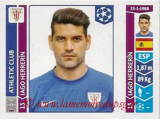 2014-15 - Panini Champions League N° 608 - Iago HERRERIN (Athletic Club Bilbao)