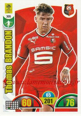 2018-19 - Panini Adrenalyn XL Ligue 1 - N° 305 - Brandon THOMAS (Rennes)