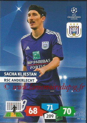 2013-14 - Adrenalyn XL champions League N° 041 - Sacha KLJESTAN (RSC Anderlecht)