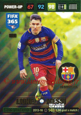 2016-17 - Panini Adrenalyn XL FIFA 365 - N° 371 - Lionel MESSI (FC Barcelone) (Goal Machine)