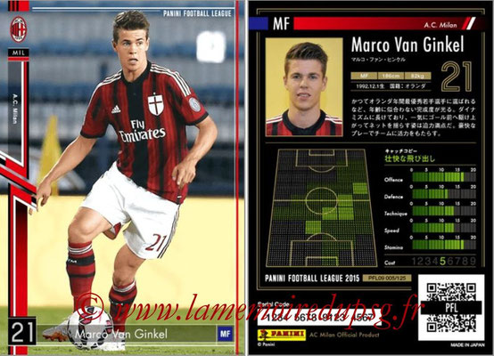 Panini Football League 2015 - PFL09 - N° 005 - Marco VAN GINKEL (Milan AC)