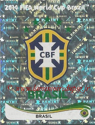 2014 - Panini FIFA World Cup Brazil Stickers - N° 032 - Ecusson Brésil