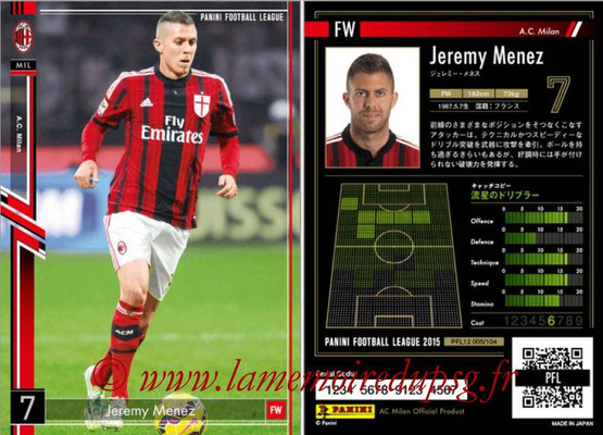 Panini Football League 2015 - PFL12 - N° 005 - Jeremy MENEZ (Milan AC)