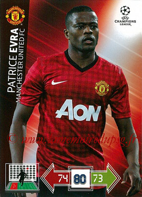 2012-13 - Adrenalyn XL champions League N° 137 - Patrice EVRA (Manchester United FC)