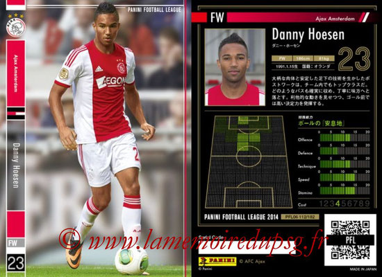 Panini Football League 2014 - PFL06 - N° 112 - Danny HOESEN (Ajax Amsterdam)