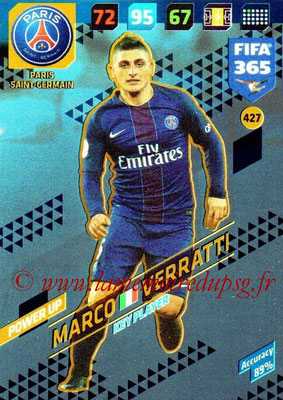 2017-18 - Panini FIFA 365 Cards - N° 427 - Marco VERRATTI (Paris Saint-Germain) (Key Player)