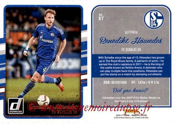 2016 - Panini Donruss Cards - N° 087 - Benedikt HOWEDES (FC Schalke 04)