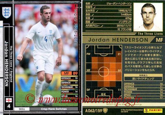 2015-16 - Panini WCCF - N° A062 - Jordan HENDERSON (Angleterre)