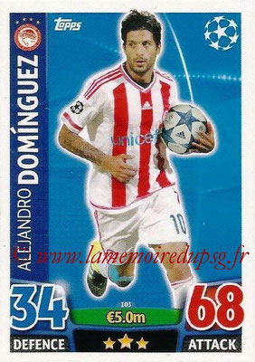 2015-16 - Topps UEFA Champions League Match Attax - N° 103 - Alejandro DOMINGUEZ (Olympiacos FC)