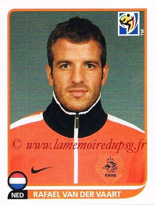 2010 - Panini FIFA World Cup South Africa Stickers - N° 345 - Rafael VAN DER VAART (Pays Bas)
