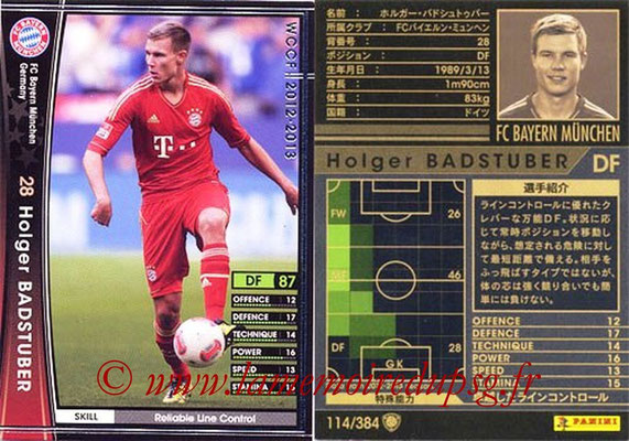 2012-13 - WCCF - N° 114 - Holger BADSTUBER (FC Bayern Munich)