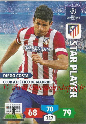 2013-14 - Adrenalyn XL champions League N° 063 - Diego COSTA (Club Atlético de Madrid) (Star Player)