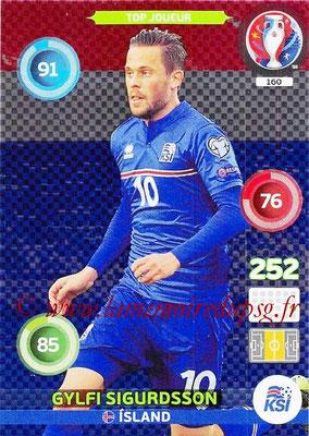 Panini Euro 2016 Cards - N° 160 - Gylfi SIGURDSSON (Islande) (Top Joueur)