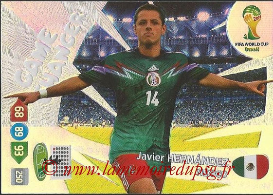 2014 - Panini FIFA World Cup Brazil Adrenalyn XL - N° 401 - Javier HERNANDEZ (Mexique) (Game Changer)