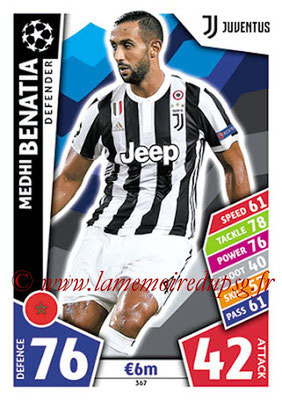 2017-18 - Topps UEFA Champions League Match Attax - N° 367 - Medhi BENATIA (Juventus)