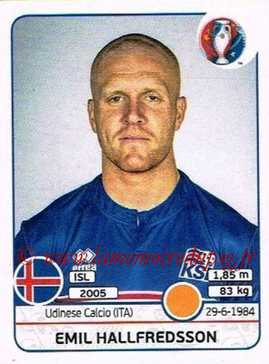 Panini Euro 2016 Stickers - N° 618 - Emil HALLFREDSSON (Islande)