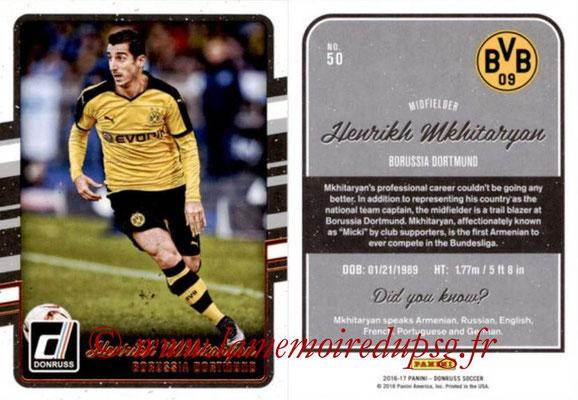 2016 - Panini Donruss Cards - N° 050 - Henrikh MKHITARYAN (Borussia Dortmunnd)