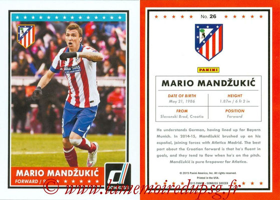 2015 - Panini Donruss Soccer - N° 026 - Mario MANDZUKIC (Atletico Madrid)