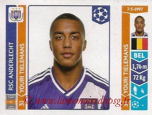 2014-15 - Panini Champions League N° 314 - Youri TIELEMANS (RSC Anderlecht)