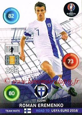 Panini Road to Euro 2016 Cards - N° 209 - Roman EREMENKO (Finlande)