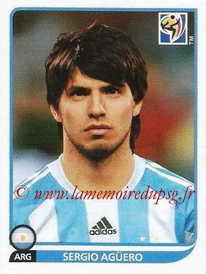 2010 - Panini FIFA World Cup South Africa Stickers - N° 121 - Sergio AGÜERO (Argentine)