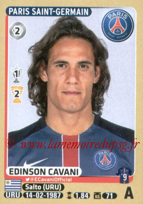 2015-16 - Panini Ligue 1 Stickers - N° 357 - Edinson CAVANI (Paris Saint-Germain)