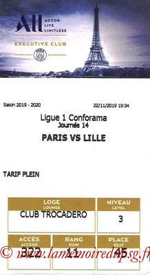 Tickets  PSG-Lille  2019-20