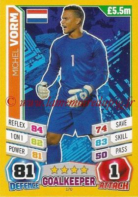 Topps Match Attax England 2014 - N° 170 - Michel VORM (Pays-Bas)