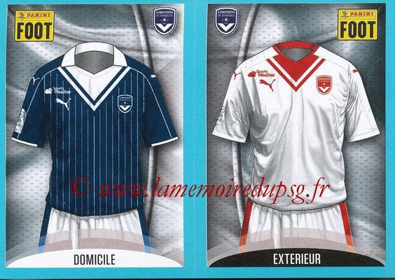 2016-17 - Panini Ligue 1 Stickers - N° 090 + 091 - Maillot Domicile + Extérieur (Bordeaux)