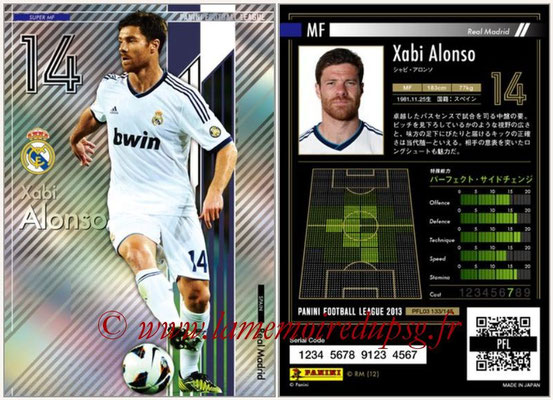 Panini Football League 2013 - PFL03 - N° 133 - Xabi Alonso (Real Madrid) (Super MF)