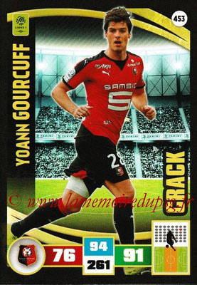 2016-17 - Panini Adrenalyn XL Ligue 1 - N° 453 - Yohann GOURCUFF (Rennes) (Crack)