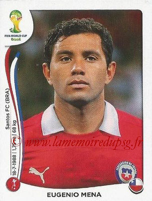 2014 - Panini FIFA World Cup Brazil Stickers - N° 150 - Eugenio MENA (Chili)