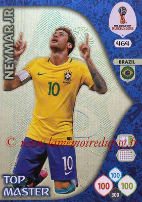 2018 - Panini FIFA World Cup Russia Adrenalyn XL - N° 464 - NEYMAR Jr. (Bresil) (Top Master)