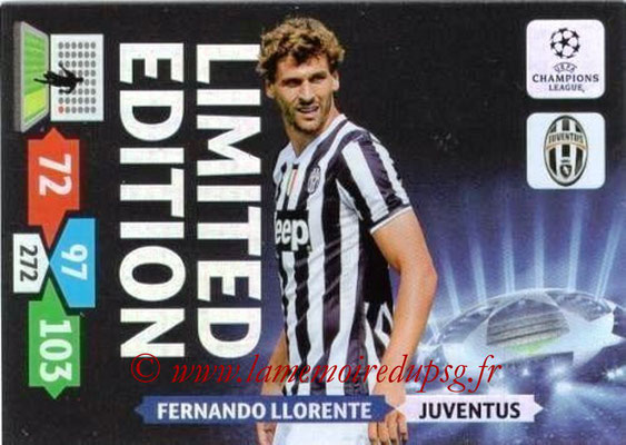 2013-14 - Adrenalyn XL champions League N° LE31 - Fernando LLORENTE (Juventus FC) (Limited Edition)