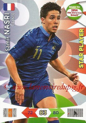 2014 - Panini Road to FIFA World Cup Brazil Adrenalyn XL - N° 095 - Samir NASRI (France) (Star Player)