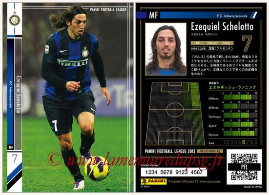 Panini Football League 2013 - PFL03 - N° 020 - Ezequiel Schelotto (Inter Milan)