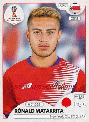 2018 - Panini FIFA World Cup Russia Stickers - N° 400 - Ronald MATARRITA (Costa Rica)