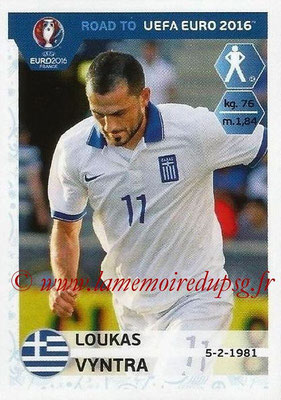 Panini Road to Euro 2016 Stickers - N° 119 - Loukas VYNTRA (Grèce)