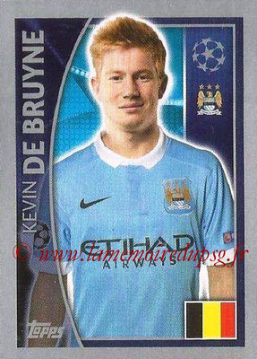 2015-16 - Topps UEFA Champions League Stickers - N° 259 - Kevini DE BRUYNE (Manchester City FC)