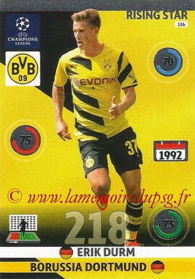 2014-15 - Adrenalyn XL champions League N° 116 - Erik DURM (Borussia Dortmund) (Rising star)