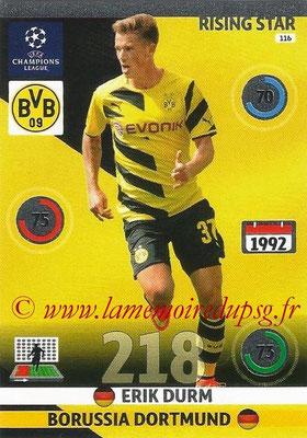 2014-15 - Adrenalyn XL champions League N° 116 - Erik DURM (Borussia Dortmund) (Rising star)