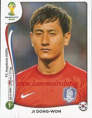 2014 - Panini FIFA World Cup Brazil Stickers - N° 636 - Ji DONG-WON (Corée du Sud)