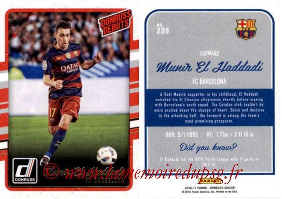 2016 - Panini Donruss Cards - N° 209 - Munir EL HADDADI (FC Barcelone) (Donruss Debuts)