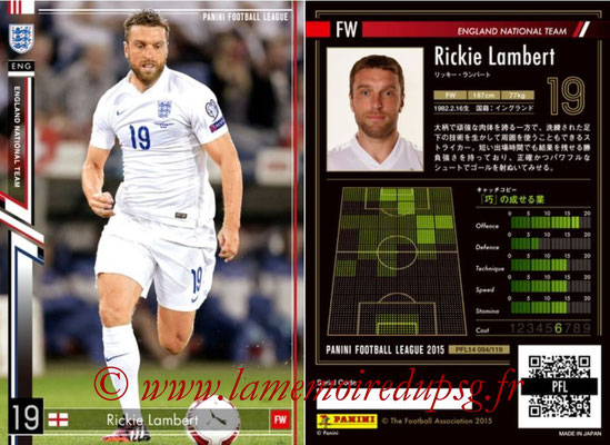 Panini Football League 2015 - PFL14 - N° 094 - Rickie LAMBERT (Angleterre)