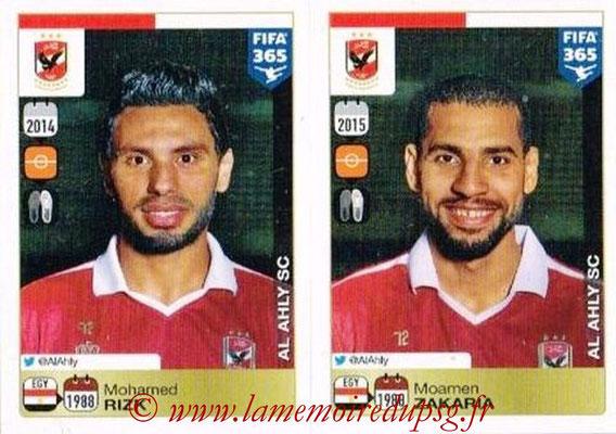 2015-16 - Panini FIFA 365 Stickers - N° 303-304 - Mohamed RIZK + Moamen ZAKARIA (Al Ahly SC)