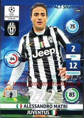 2014-15 - Adrenalyn XL champions League Update edition N° UE089 - Alessandro MATRI (Juventus FC) (Impact Signing)