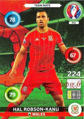 Panini Euro 2016 Cards - N° 452 - Hal ROBSON-KANU (Pays de Galles)