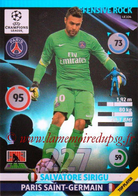 2014-15 - Adrenalyn XL champions League Update edition N° UE104 - Salvatore SIRIGU (Paris Saint-Germain) (Defensive Rock)